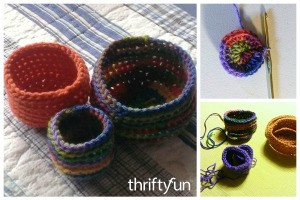 Making Crocheted Nesting Baskets