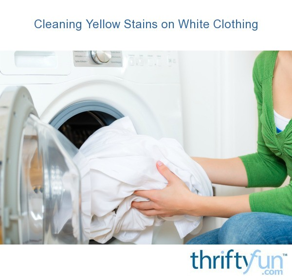 cleaning yellow stains on white clothing thriftyfun. Black Bedroom Furniture Sets. Home Design Ideas