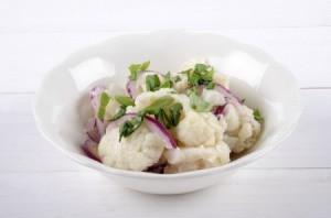 Mock Potato Salad made from Cauliflower