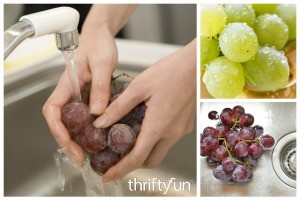 Cleaning Grapes