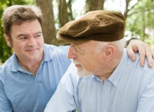 Man and elderly father