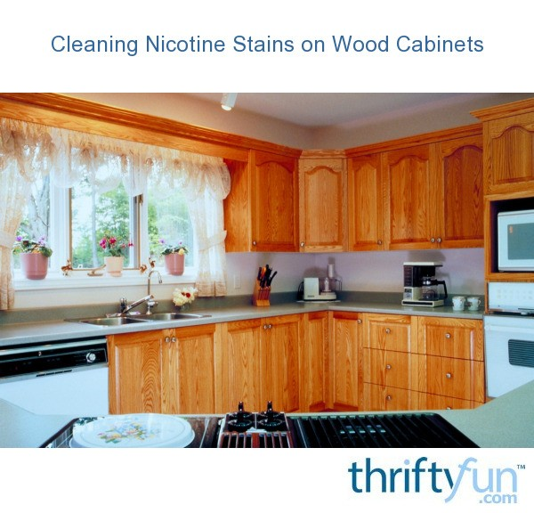 cleaning kitchen wood cabinets cleaning nicotine stains on wood cabinets thriftyfun 5457