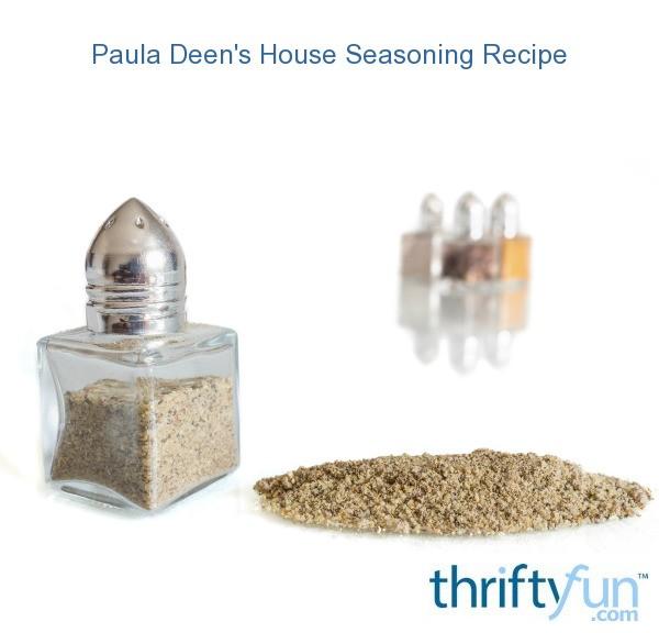 Paula Deen's House Seasoning Recipe