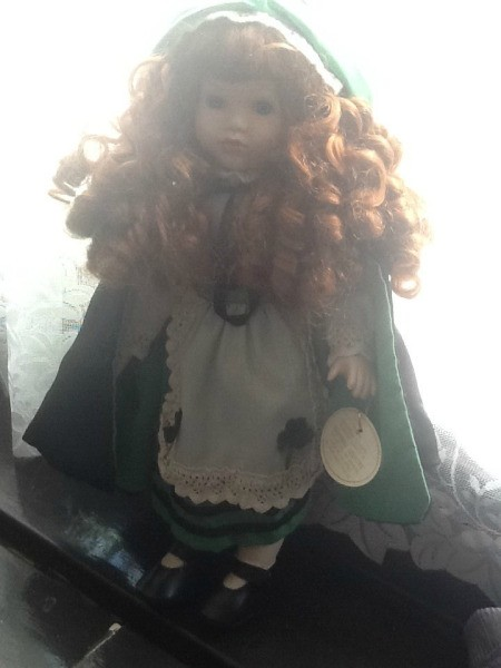 Porcelain  doll from the Knightsbridge collection call COLLEEN