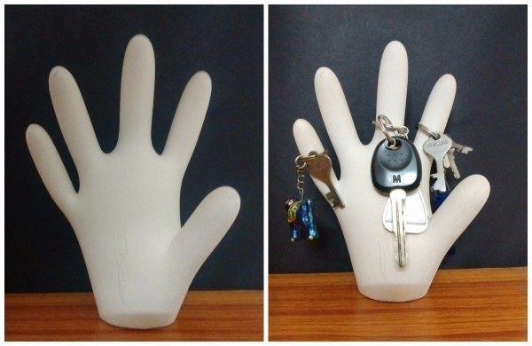 Making a Simple Plaster of Paris Hand Keyholder  a6d169793