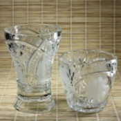 Two crystal vases