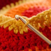 Close up image of crochet