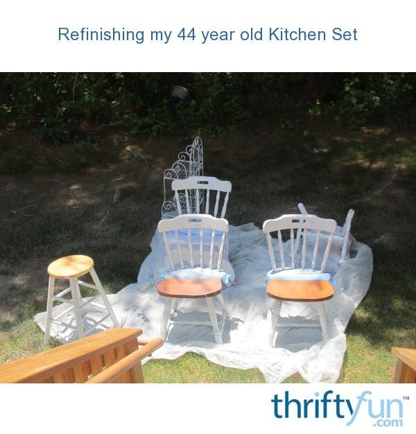 Refinishing my 44 year old kitchen set thriftyfun for My kitchen set