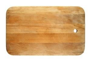 Wood Cutting Board against a white background