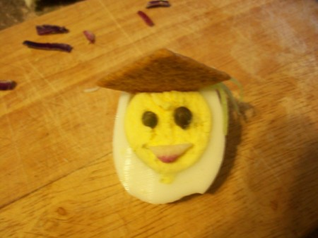 Egg Head Graduate Deviled Eggs