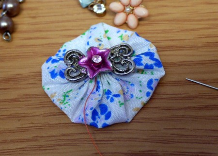 Pretty Fabric Brooch