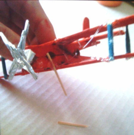 Clothes Pin and Popsicle Stick Airplane