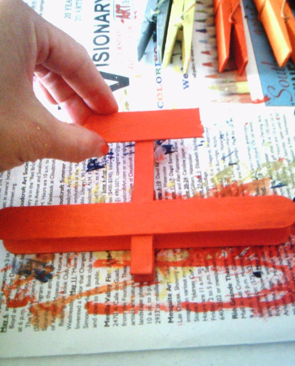 Making a Clothespin and Popsicle Stick Plane | ThriftyFun