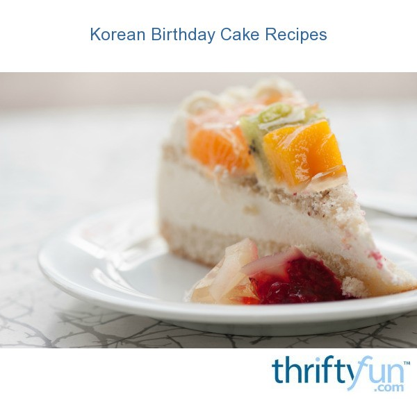 Korean Birthday Cake Recipes