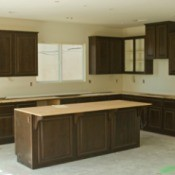 New Kitchen with cabinets and no counters
