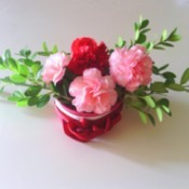 flowers in can