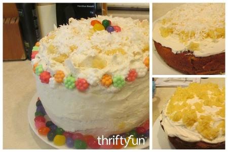 Three Layer Coconut-Pineapple Cake