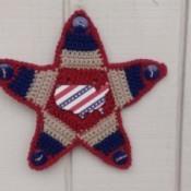 star shaped wall hanging