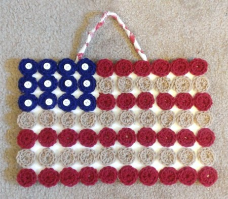 Crocheted Flag Wall Hanging
