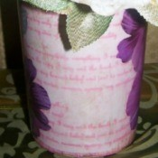 Decoupage a Flower Vase