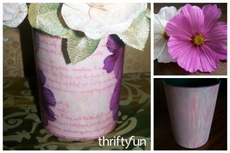 Decoupage a Flower Vase