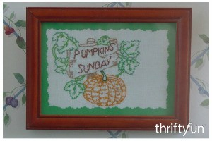 Framing Embroidery Projects
