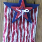 Star and Flag Strips Wall Hanging