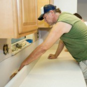 Kitchen Counter Tops being installed