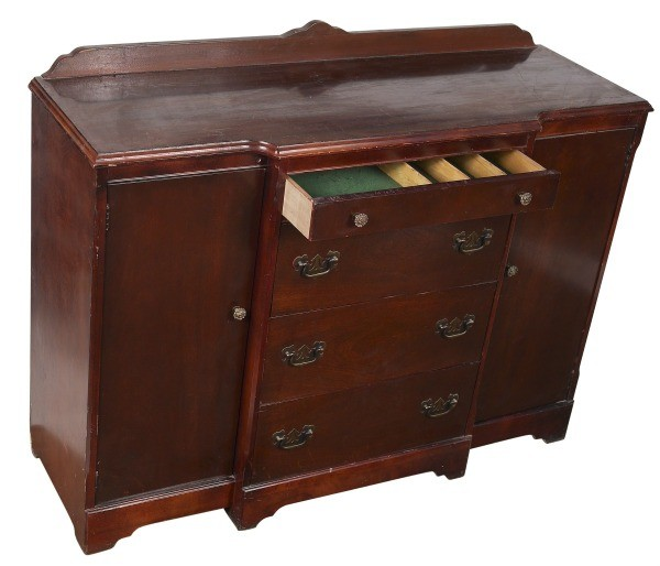 Antique Cabinet With Drawer Open