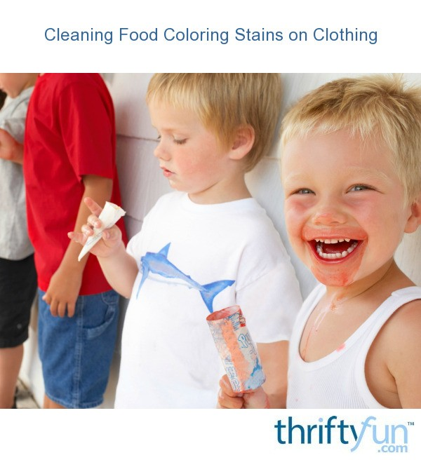 Cleaning Food Coloring Stains On Clothing Thriftyfun