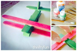 Clothespin and Popsicle Stick Plane FB