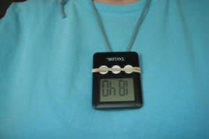 timer worn around neck