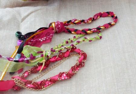 three plaited bracelets
