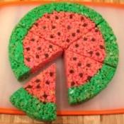 Rice Krispy Treat Watermelon Slices