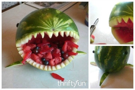 Watermelon Shark Fruit Bowl