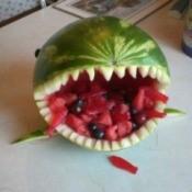 Watermelon Shark Fruit Bowl