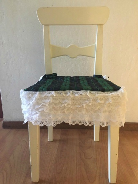Chair with new embellished seat.