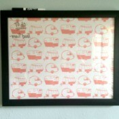 Framed Wrapping Paper Memo Board