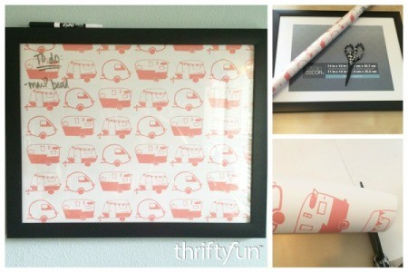 Making a Framed Wrapping Paper Memo Board