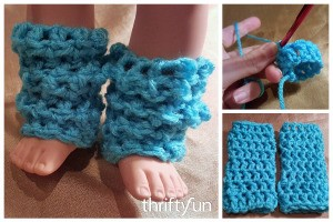 Crocheted Legwarmers for 18 Inch Dolls