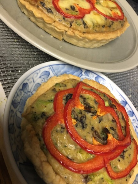 Savoury Cheese and Vegetable Tart - finished tarts