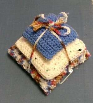 Three Tiered Crochet Pin Cushion