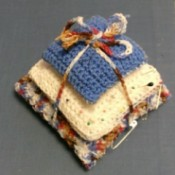 Three Tiered Crochet Pin Cushion