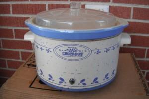 crock pot outside