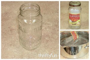 Removing Labels from Glass Jars