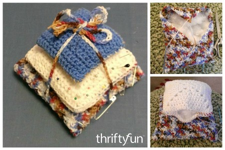 Making a Three Tiered Crochet Pin Cushion