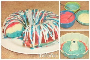 Red, White, and Blue Bundt Cake Recipe