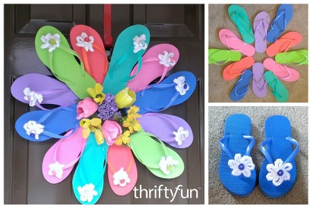 Making a Flip Flop Wreath