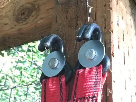 Hangers for kayak.