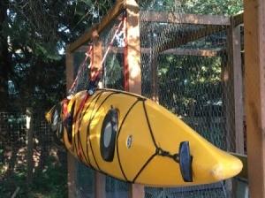 kayak hanging